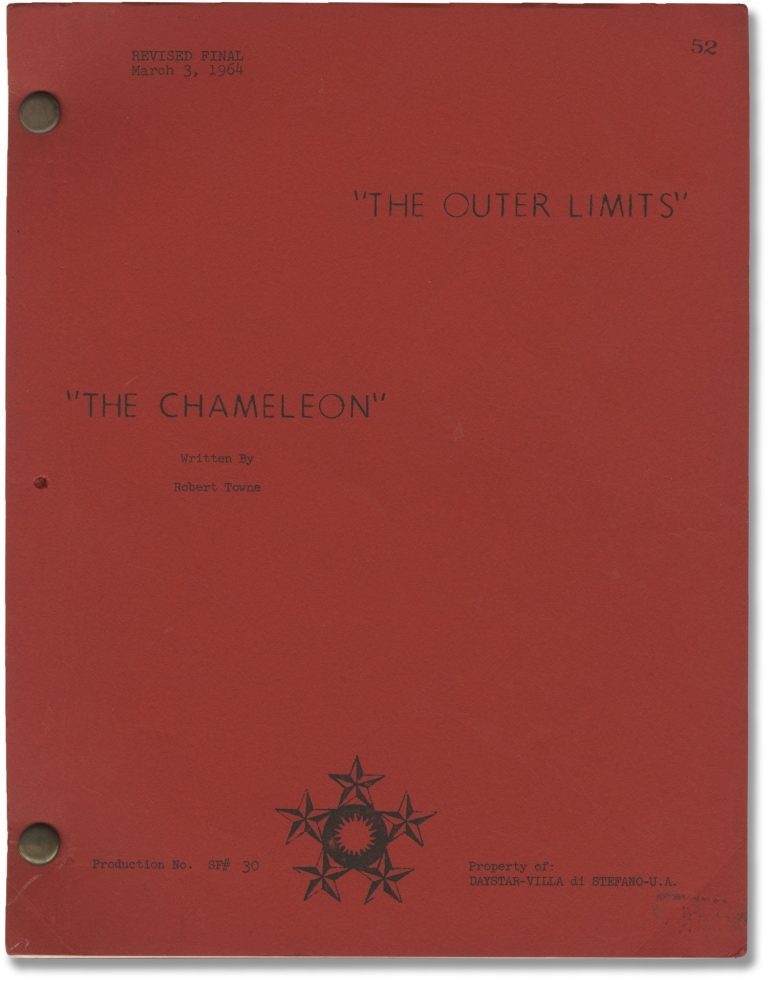 The Outer Limits: The Chameleon. Robert Duvall, Gerd Oswald, Robert Towne, Joseph Stefano Lou Morheim, starring, director, screenwriter, story.