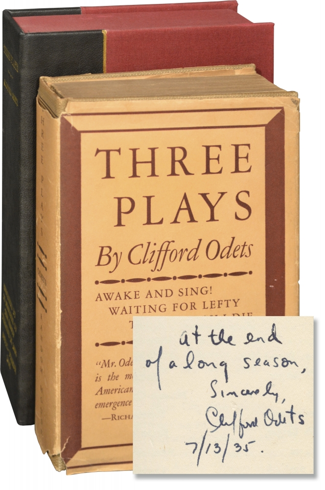 Three Plays: Awake and Sing, Waiting for Lefty, 'Til the Day I Die. Clifford Odets.