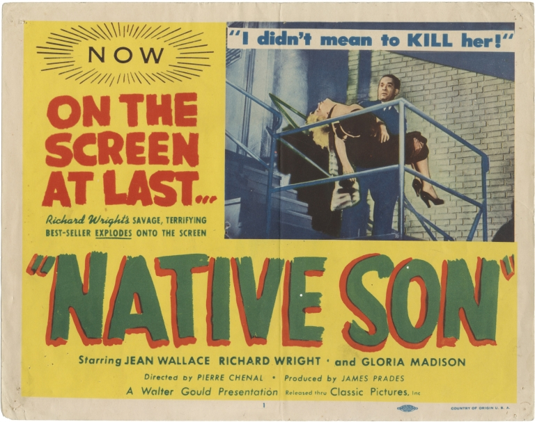 Native Son [Sangre negra]. Richard Wright, Pierre Chenal, George Rigaud Jean Wallace, starring novel, screenwriter director, starring.