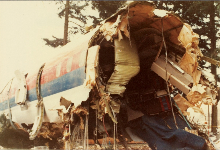 Collection of 63 photographs of the crash of United Airlines Flight 173. United Airlines Flight 173.