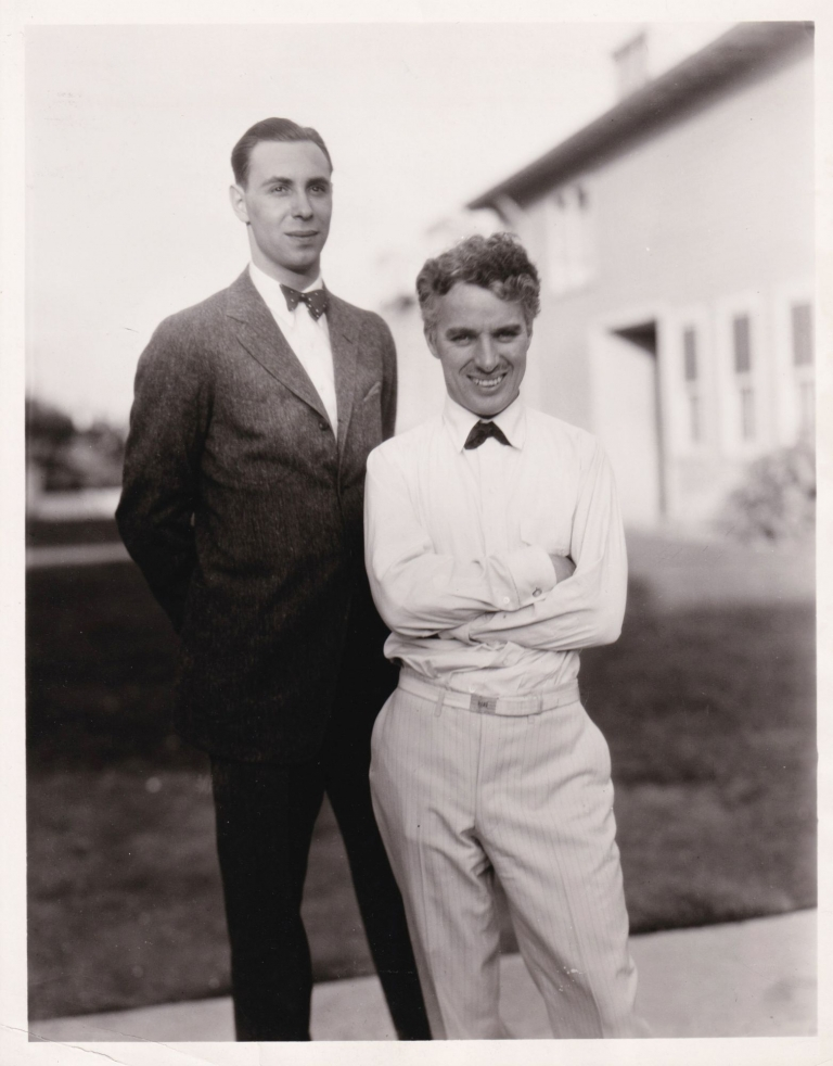 Original photograph of Charlie Chaplin and Philip Sassoon, Circa 1928. Charlie Chaplin, Philip Sassoon, subjects.