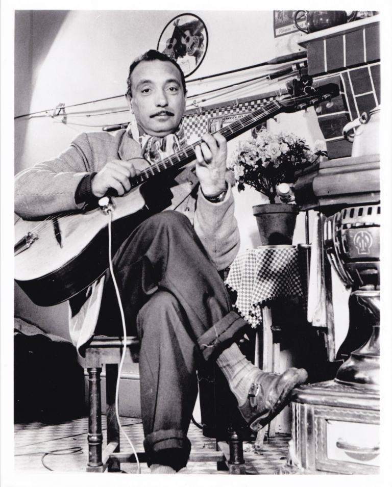 Original photo of Django Reinhardt, circa 1940. Django Reinhardt, subject.