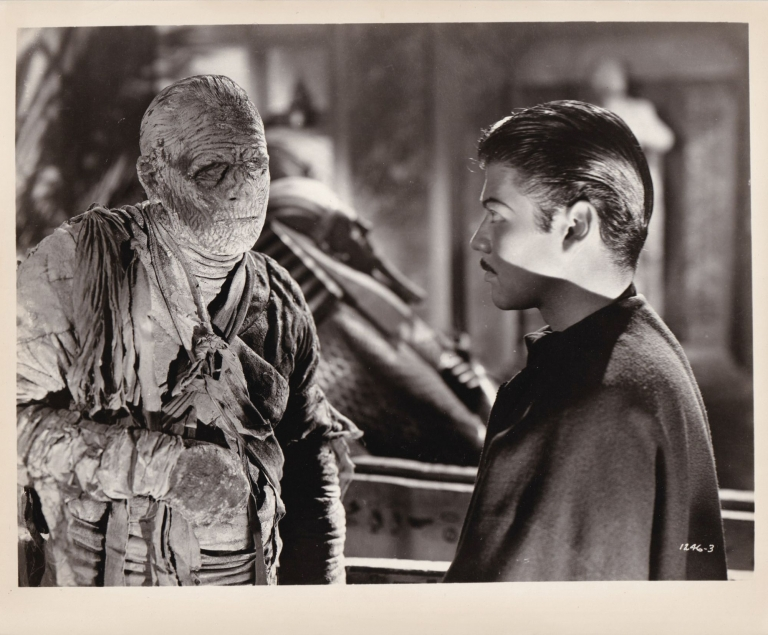 The Mummy's Tomb. Lon Chaney, Jr., Harold Young, Neil P. Varnick, Henry Sucher Griffin Jay, John Hubbard Turhan Bey, starring, director, story, screenwriters.