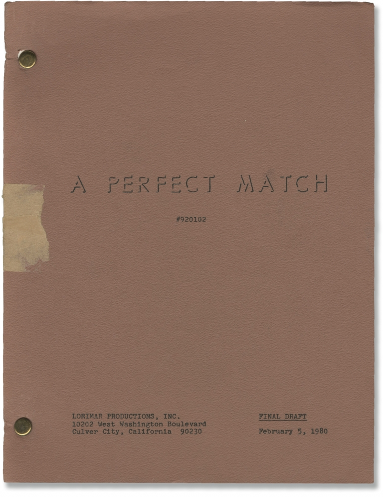 A Perfect Match. Mel Damski, John Sayles, Michael Brandon Linda Kelsey, Lisa Lucas, director, screenwriter, starring.