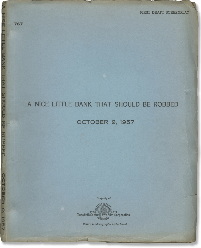 A Nice Little Bank that Should be Robbed. Henry Levin, Sydney Boehm, Mickey Rooney Tom Ewell, Mickey Shaughnessy, director, screenwriter, starring.