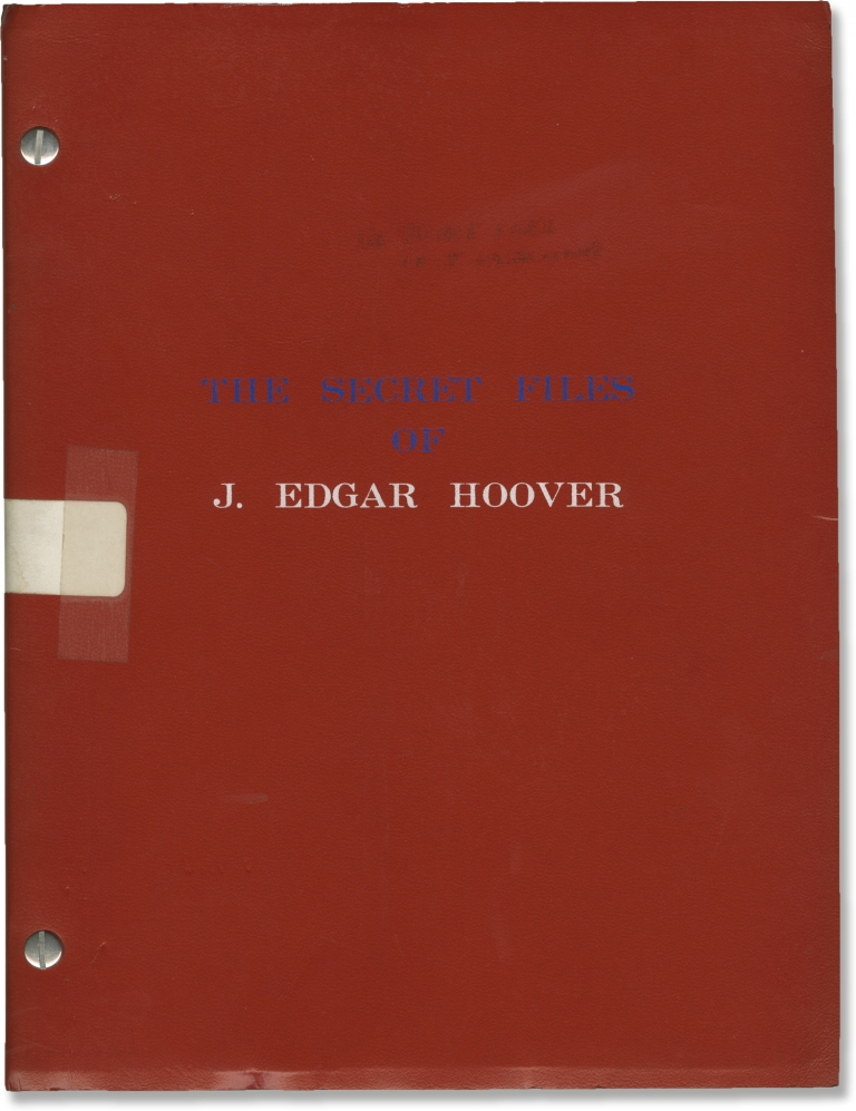 The Private Files of J. Edgar Hoover [The Secret Files of J. Edgar Hoover]. Larry Cohen, Jose Ferrer Broderick Crawford, Rip Torn, Michael Parks, screenwriter director, starring.