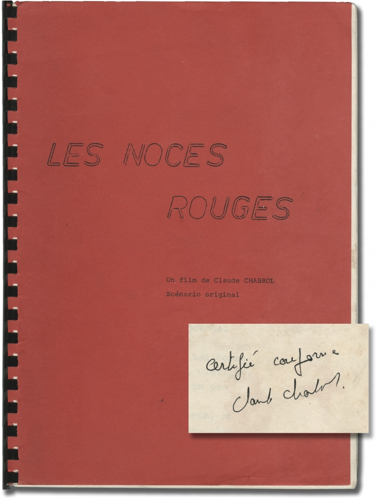 Les noces rouges [Wedding in Blood]. Claude Chabrol, Michel Piccoli Stephane Audran, Claude Pieplu, screenwriter director, starring.