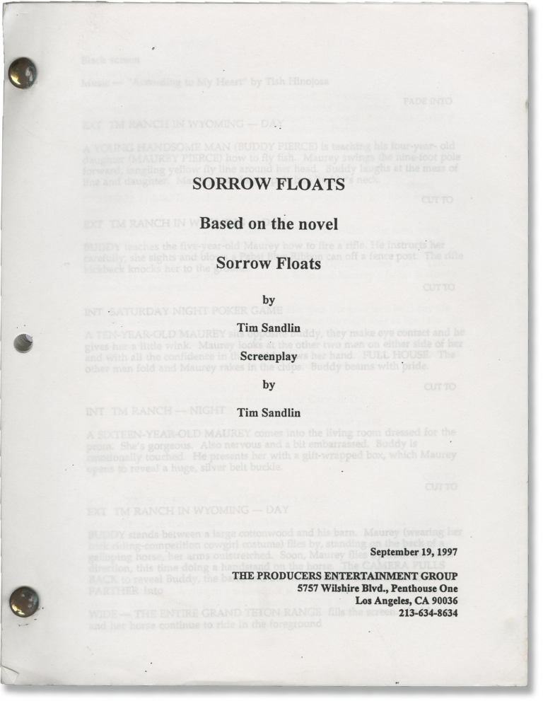 Floating Away [Sorrow Floats]. John Badham, Tim Sandlin, Judge Reinhold Paul Hogan, Rosanna Arquette, director, novel screenwriter, starring.