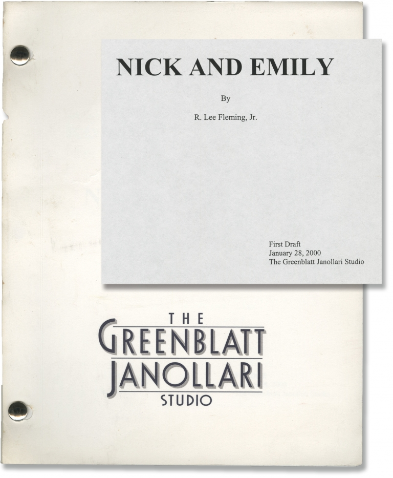 Nick and Emily. R. Lee Fleming Jr., screenwriter.