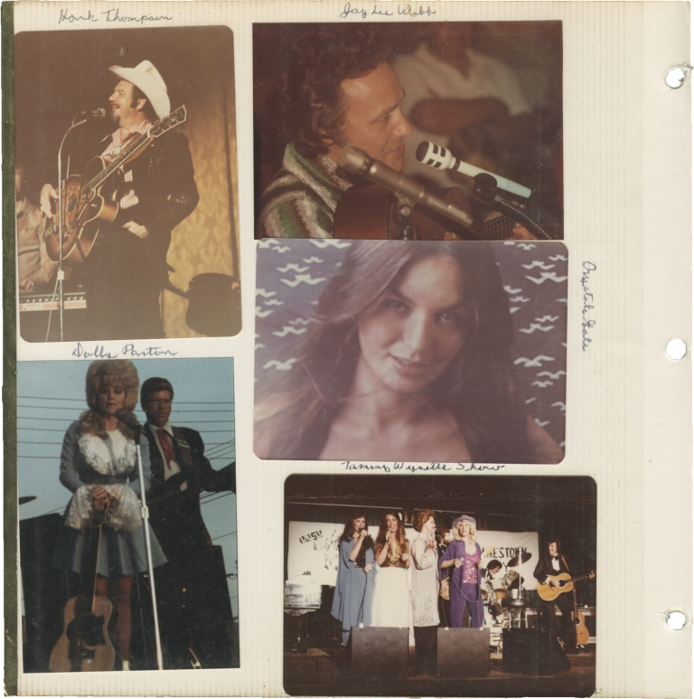 Archive of photographs of country music acts, circa 1970s. Country Music.