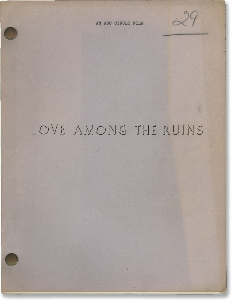 Love Among the Ruins. George Cukor, James Costigan, Laurence Olivier Katherine Hepburn, director, screenwriter, starring.