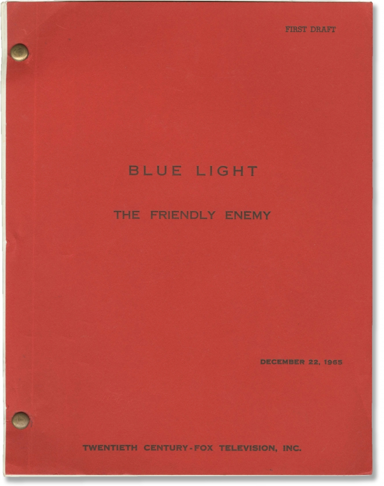 Blue Light: The Friendly Enemy. James Goldstone, Harold Livingston, Peter Mark Richman Robert Goulet, Robert Doyle, Richard Carlyle, director, screenwriter, starring.