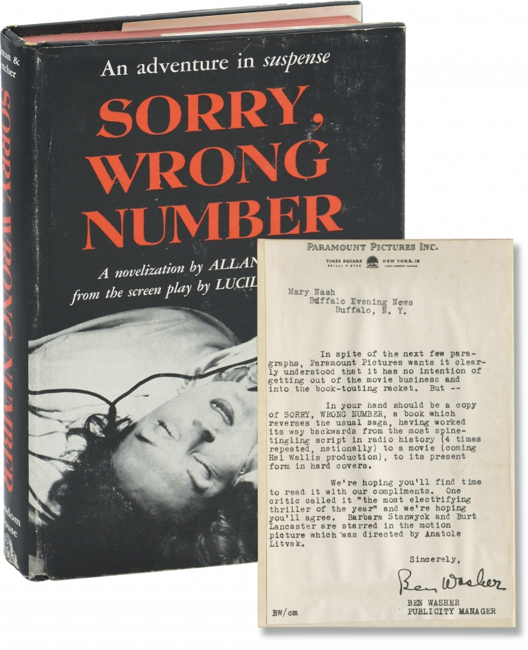 Sorry, Wrong Number. Lucille Fletcher, Allan Ullman.