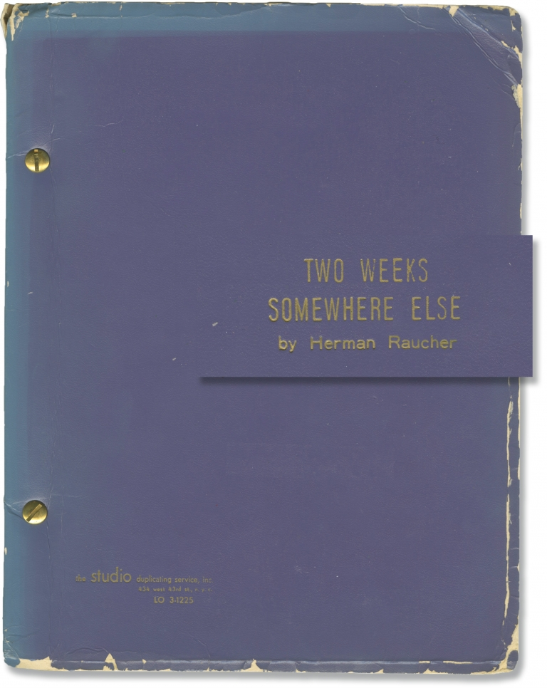Two Weeks Somewhere Else. Herman Raucher, playwright.