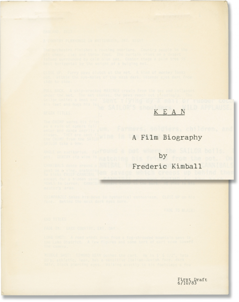 Kean: A Play for Life [Kean: A Film Biography]. Frederic Kimball, screenwriter.