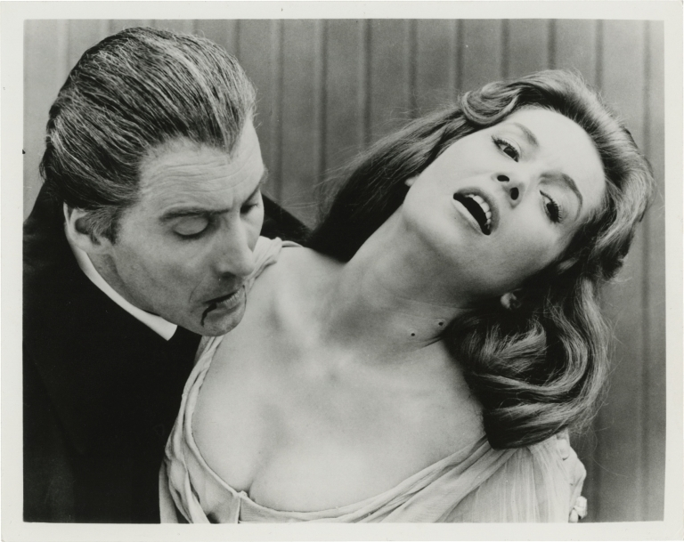 Dracula: Prince of Darkness. Terence Fisher, Bram Stoker, Jimmy Sangster, Barbara Shelley Christopher Lee, Andrew Keir, director, novel, screenwriter, starring.