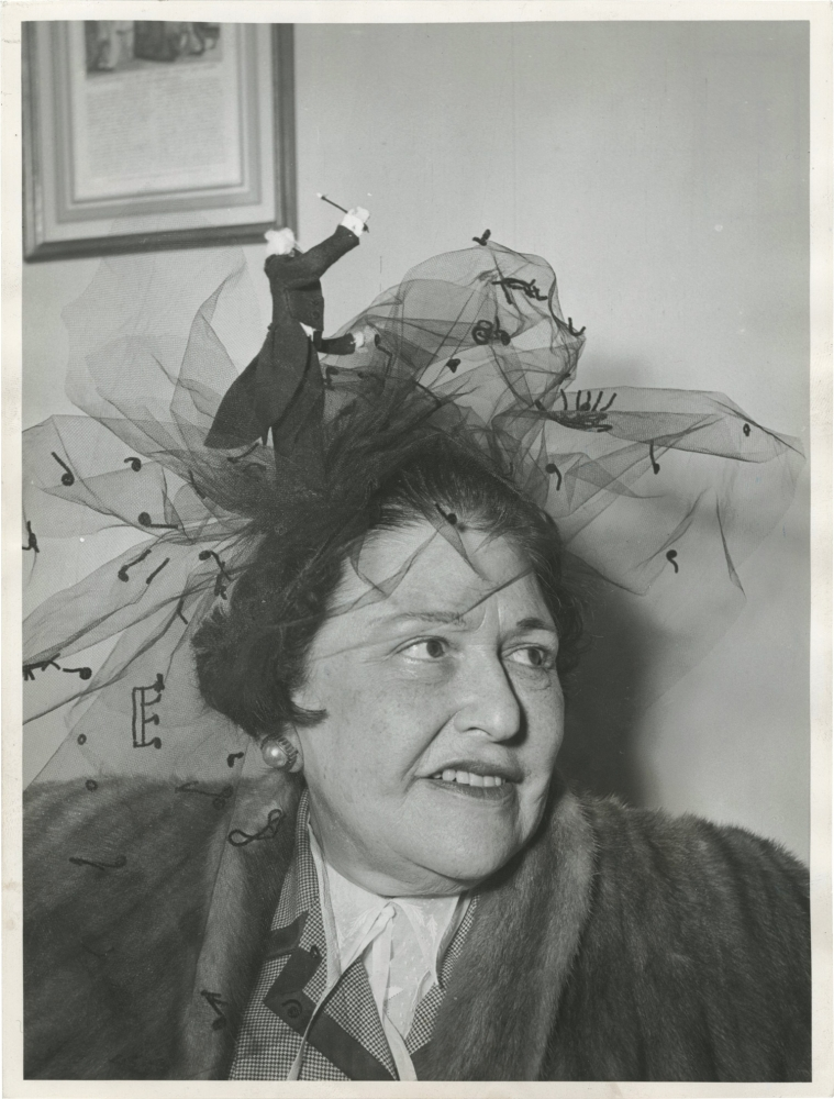 Original photograph of Louella Parsons. Louella Parsons, Michel Brodsky, subject, photographer.