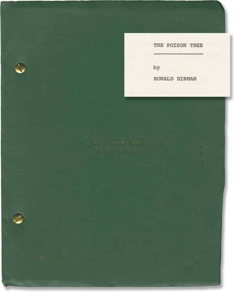 The Poison Tree. Ronald Ribman, Charles Blackwell, Daniel Barton Danny Meehan, Peter Masterson, Gene O'Neill, playwright, director, starring.