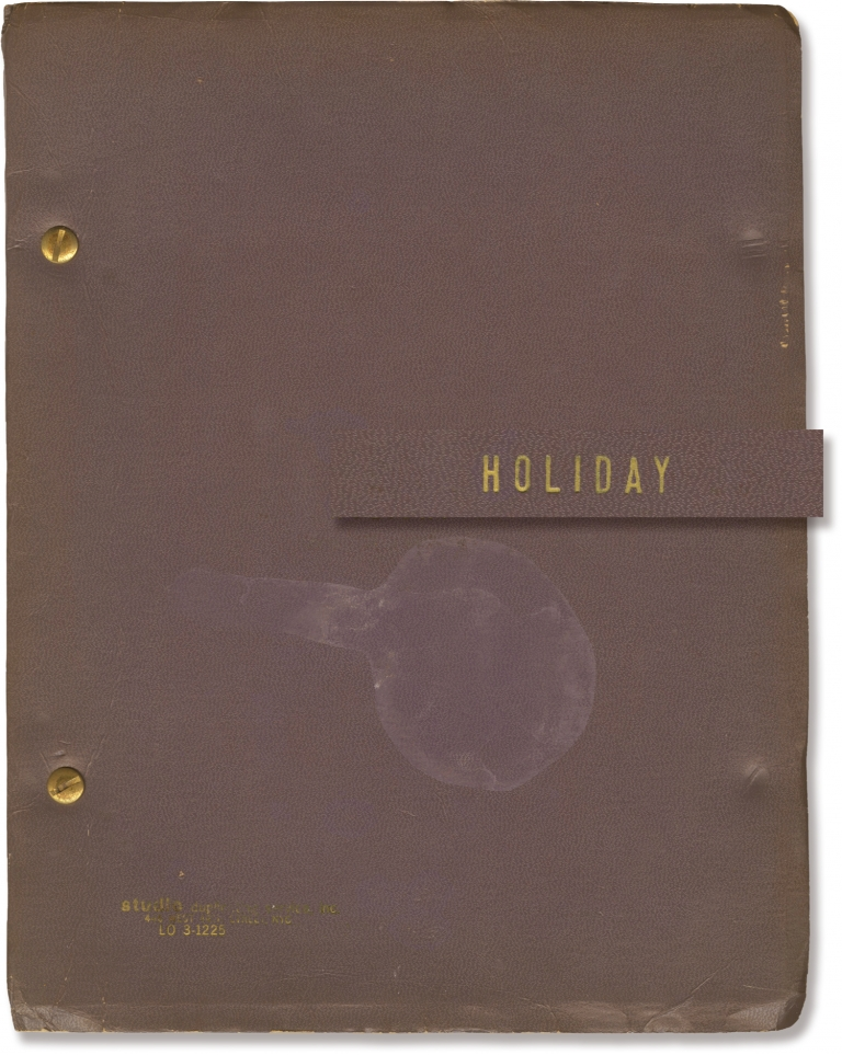 Holiday. Philip Barry, Albert W. Selden, playwright, producer.
