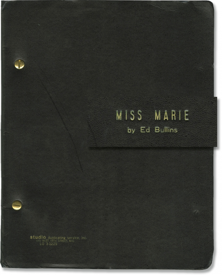 The Fabulous Miss Marie. Ed Bullins, playwright.