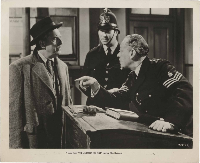 The Lavender Hill Mob. Charles Crichton, T E. B. Clarke, Stanley Holloway Alec Guinness, Sidney James, director, screenwriter, starring.