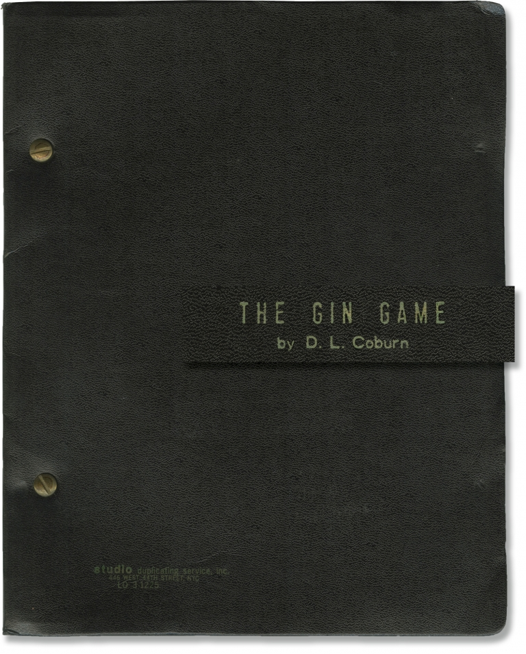 The Gin Game. Mike Nichols, D L. Coburn, Jessica Tandy Hume Cronyn, director, playwright, starring.