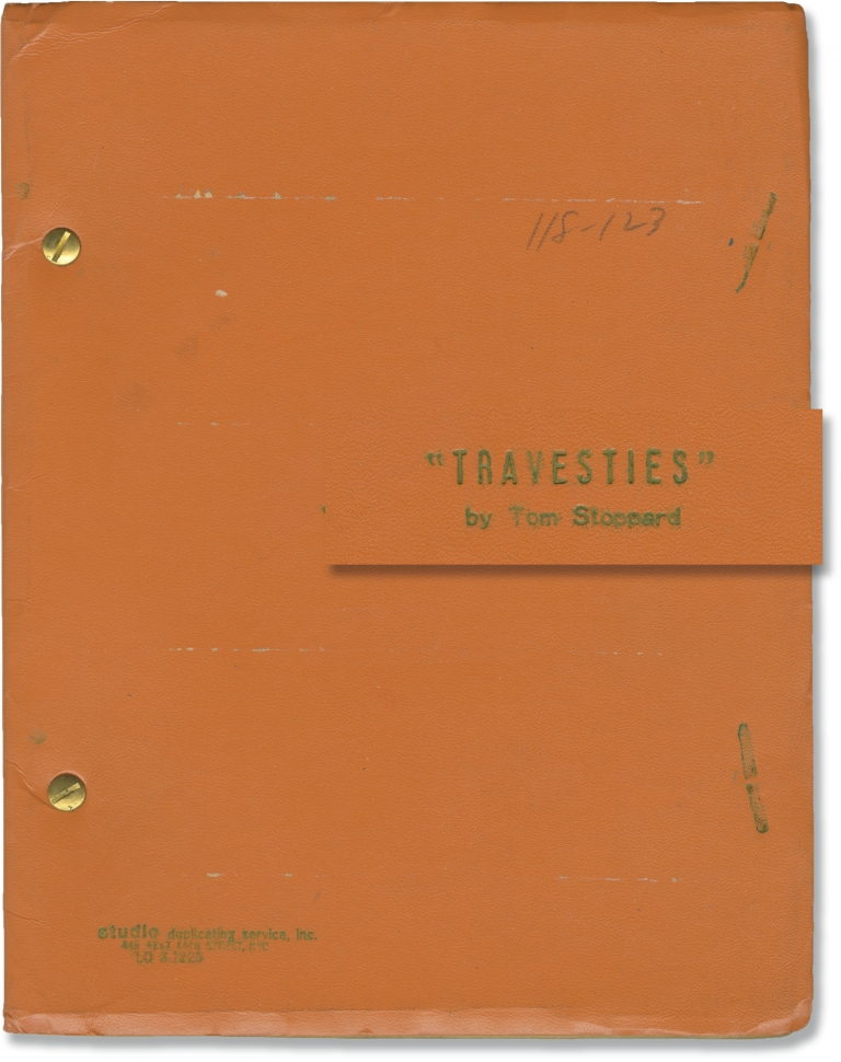 Travesties. Tom Stoppard, Peter Wood, John Bott James Booth, Tim Curry, Frances Cuka, playwright, director, starring.