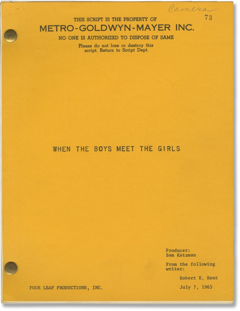 When the Boys Meet the Girls [Girl Crazy]. Ganzer. Alvin, Jack McGowan Guy Bolton, Robert E. Kent, Harve Presnell Connie Francis, Peter Noone, director, musical, screenwriter, starring.