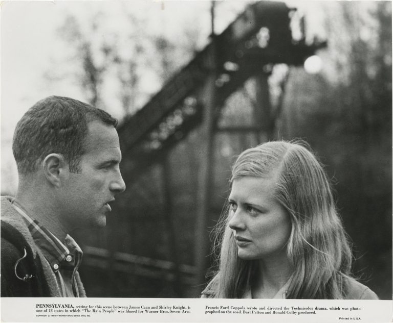 The Rain People. Francis Ford Coppola, Shirley Knight James Caan, Robert Duvall, screenwriter director, starring.
