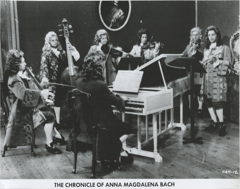 The Chronicle of Anna Magdalena Bach. Daniele Huillet, Jean-Marie Straub, Christiane Lang Gustav Leonhardt, Paolo Carlini, screenwriters directors, starring.