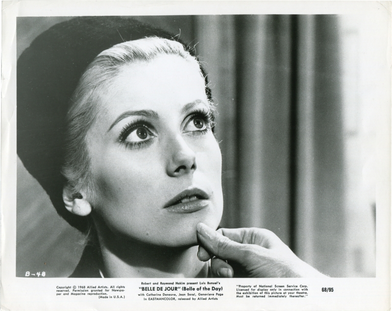 Belle de Jour. Luis Bunuel, Joseph Kessel, Raymond Voinquel, Jean-Claude Carriere, Jean Sorel STACatherine Deneuve, Michel Piccoli, screenwriter director, novel, still photographer, screenwriter, starring.