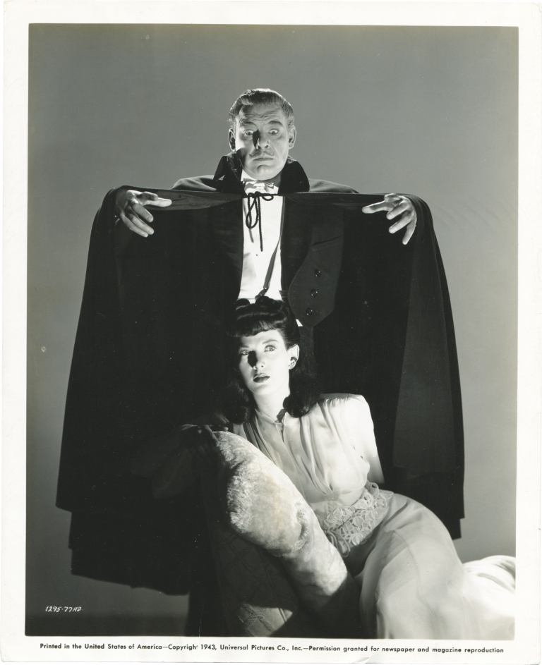 Son of Dracula. Robert Siodmak, Curt Siodmak, Eric Taylor, Robert Page Lon Chaney Jr., Evelyn Ankers, Louise Allbritton, director, story, screenwriter, starring.