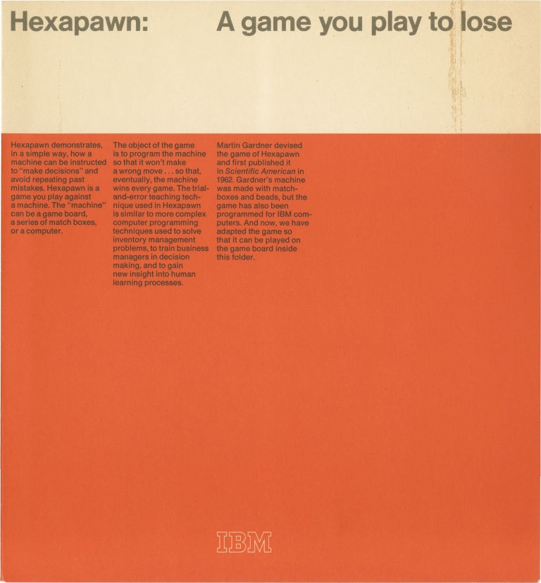 Hexapawn: A Game You Play to Lose. Martin Gardner.