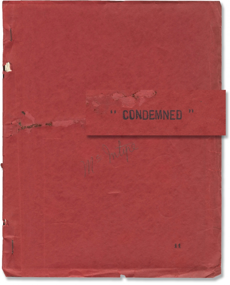 Condemned. Wesley Ruggles, Sidney Howard, Ann Harding Ronald Colman, Louis Wolheim, Dudley Digges, director, screenwriter, starring.