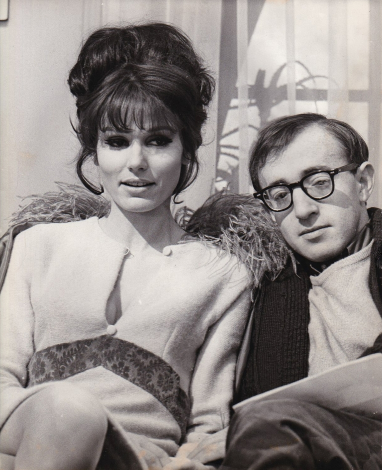 What's New Pussycat. Woody Allen, Paula Prentiss, Peter O'Toole Peter Sellers, Capucine, Romy Schneider, Clive Donner, starring screenwriter, starring, director.