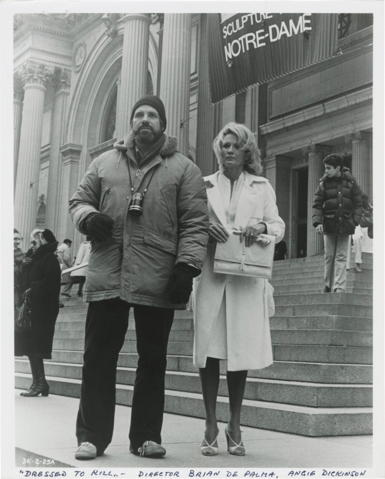 Dressed to Kill. Brian De Palma, Michael Caine Angie Dickinson, Nancy Allen, screenwriter director, starring.
