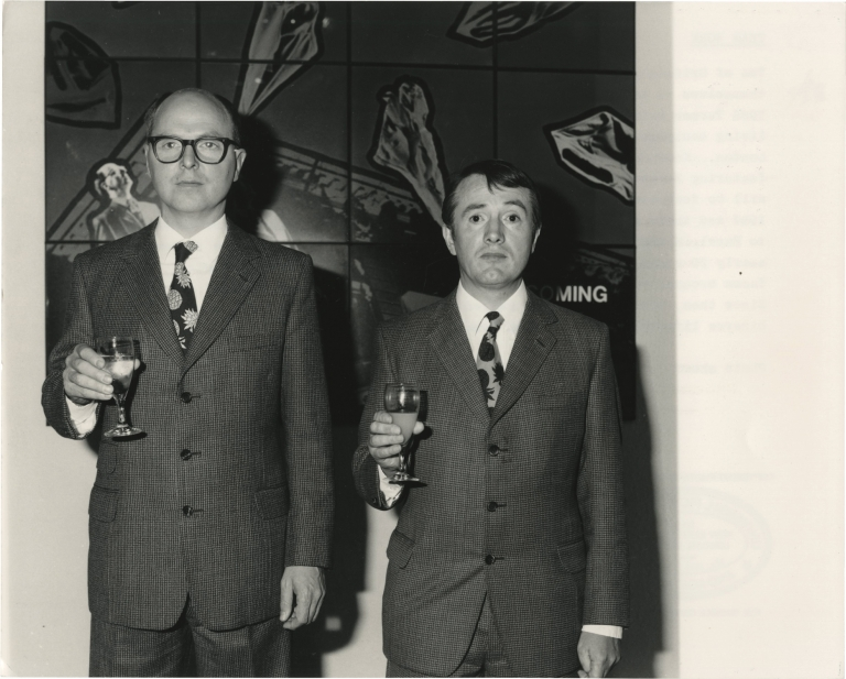 Original photograph of Gilbert and George, 1986. Gilbert Prousch, George Passmore, subjects.