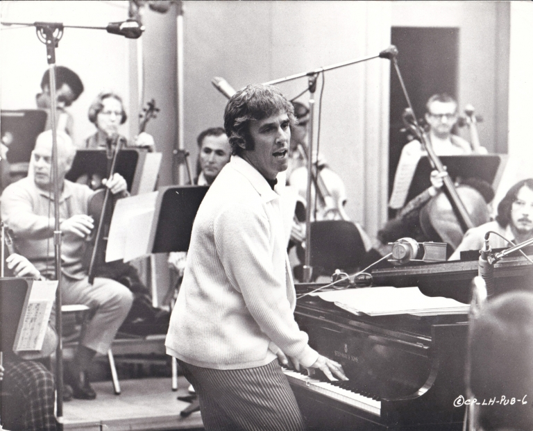 Original photograph of composer Burt Bacharach the recording studio, circa 1970s. Burt Bacharach, subject.