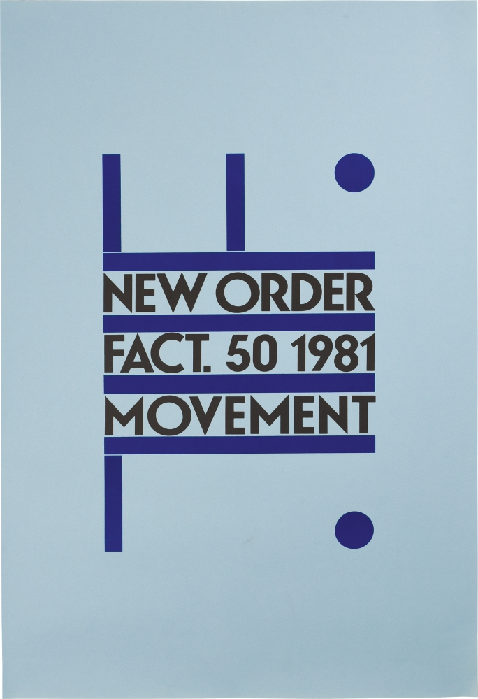 Movement. New Order, Peter Saville, designer.