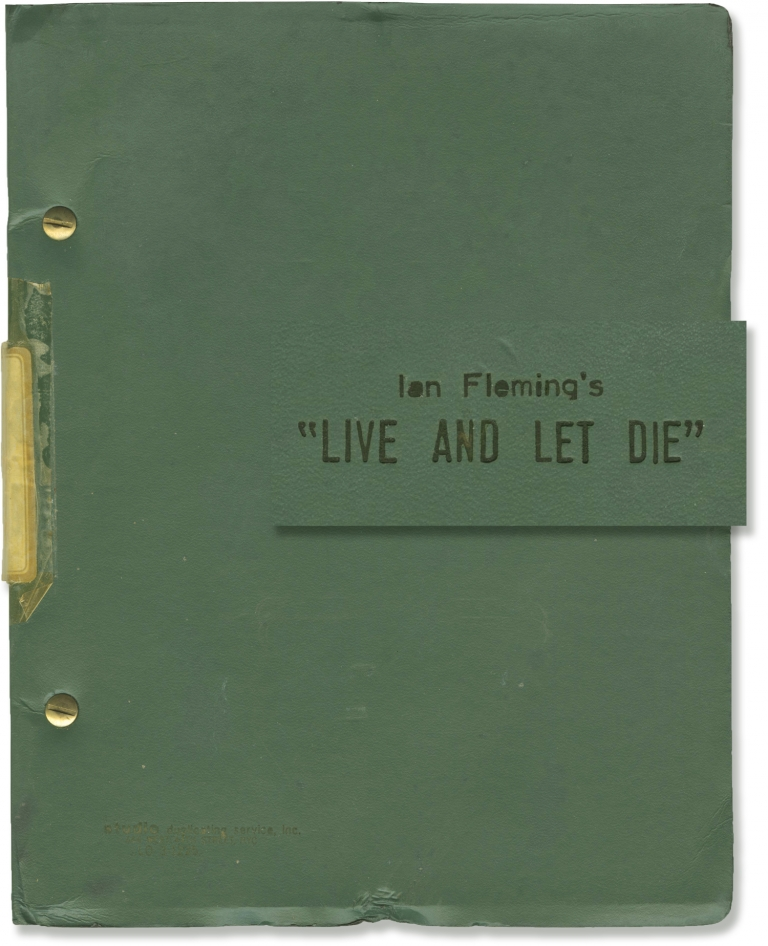 Live and Let Die. Guy Hamilton, Tom Mankiewicz, Ian Fleming, Yaphet Kotto Roger Moore, Jane Seymour, director, screenwriter, novel, starring.