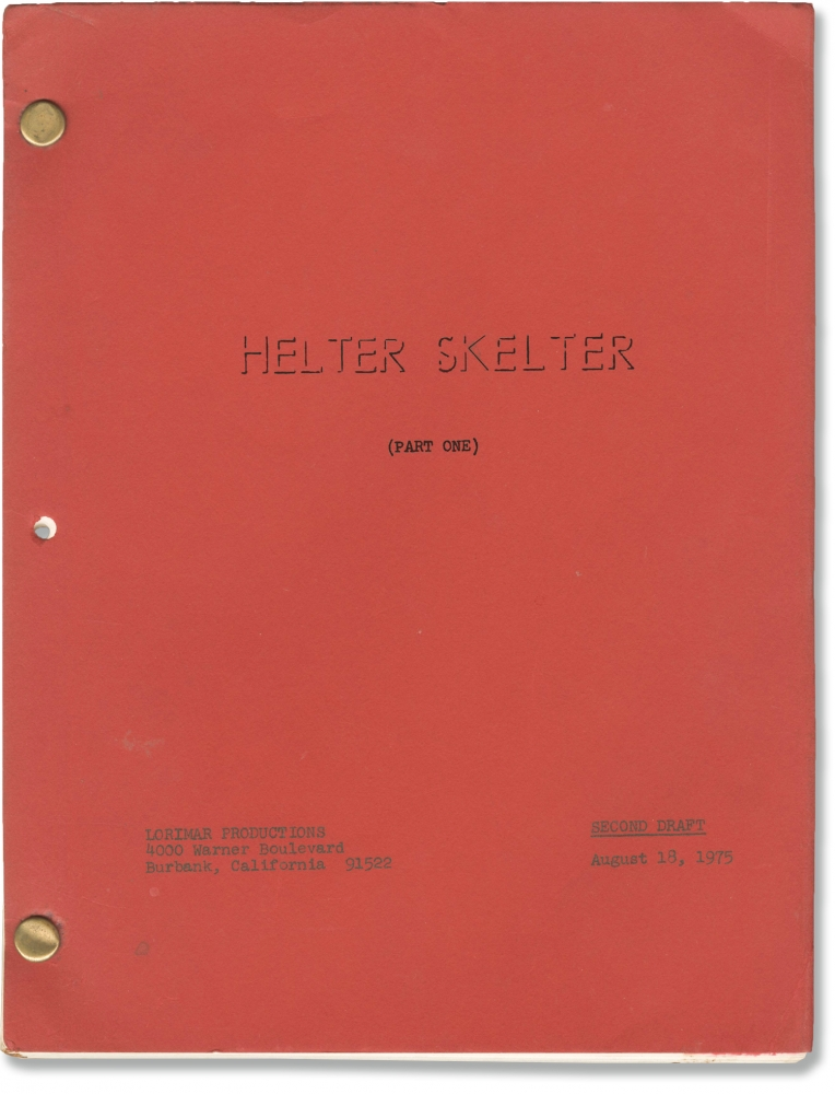 Helter Skelter (Part One and Part Two). Vincent Bugliosi, Tom Gries, J. P. Miller Curt Gentry, George DiCenzo Steve Railsback, Nancy Wolf, screenwriter book, director, screenwriters, starring.