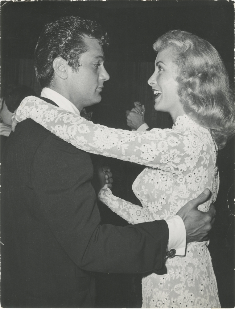 Original photograph of Tony Curtis and Janet Leigh dancing, circa 1950s. Tony, Curtis Janet Leigh, Jack Albin, subjects, photographer.