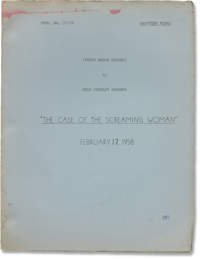 Perry Mason: The Case of the Screaming Woman. Erle Stanley Gardner, Andrew V. McLaglen, Gene Wang Dick Stenger, Barbara Hale Raymond Burr, William Hopper, characters story, director, screenwriters, starring.