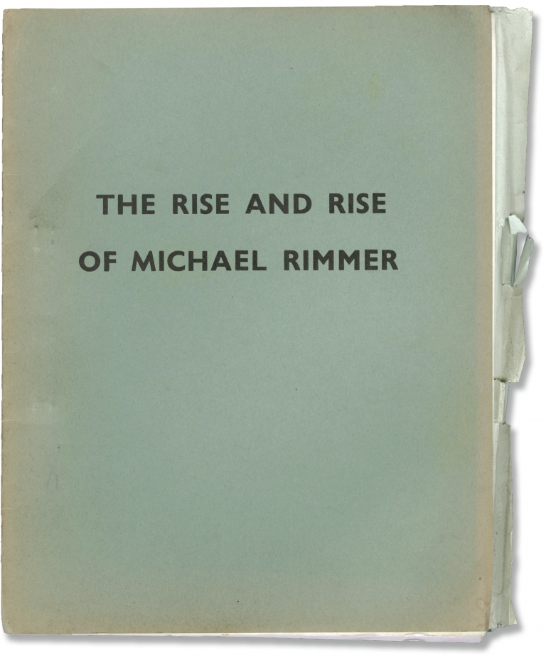 The Rise and Rise of Michael Rimmer. Kevin Billington, John Cleese Peter Cook, Graham Chapman, Harold Pinter Vanessa Howard, Arthur Lowe, screenwriter director, starring screenwriters, screenwriter, starring.