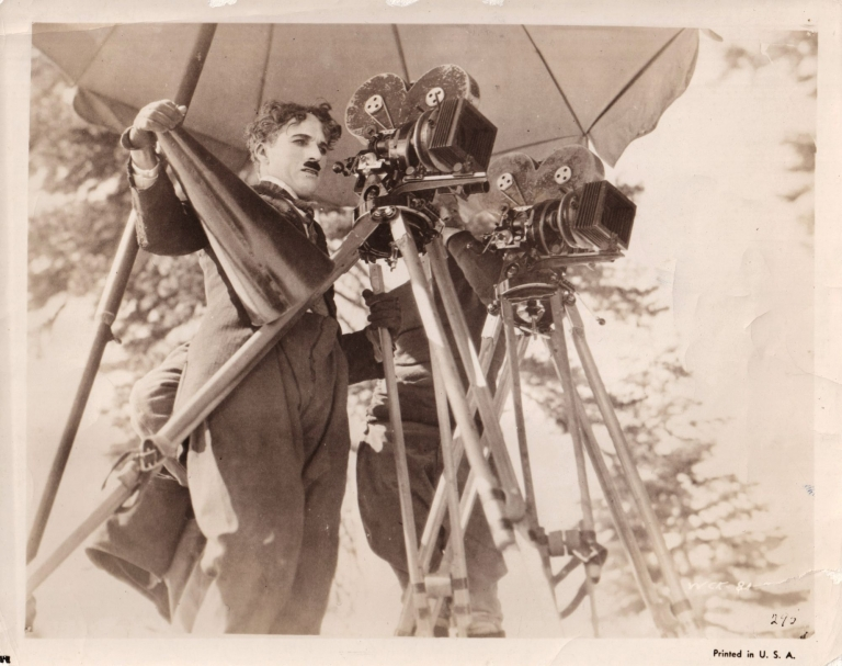The Gold Rush. Charlie Chaplin, Roland Totheroh, screenwriter director, starring, cinematographer.