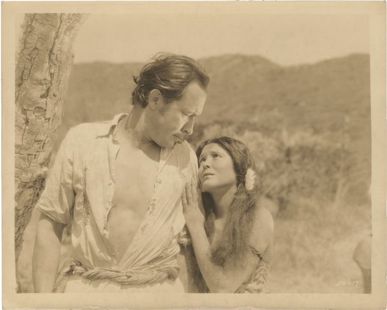 White Shadows in the South Seas. W. S. Van Dyke, Frederick O'Brien, Ray Doyle Jack Cunningham, John Colton, Raquel Torres Monte Blue, director, book, screenwriters, starring.
