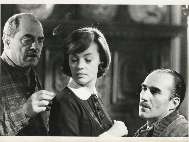 Diary of a Chambermaid [Le Journal D'une Femme de Chambre]. Luis Bunuel, Octave Mirbeau, Jean-Louis Castelli, Jean-Claude Carriere, Georges Geret Jeanne Moreau, Daniel Ivernel, screenplay director, novel, still photographer, screenwriter, starring.