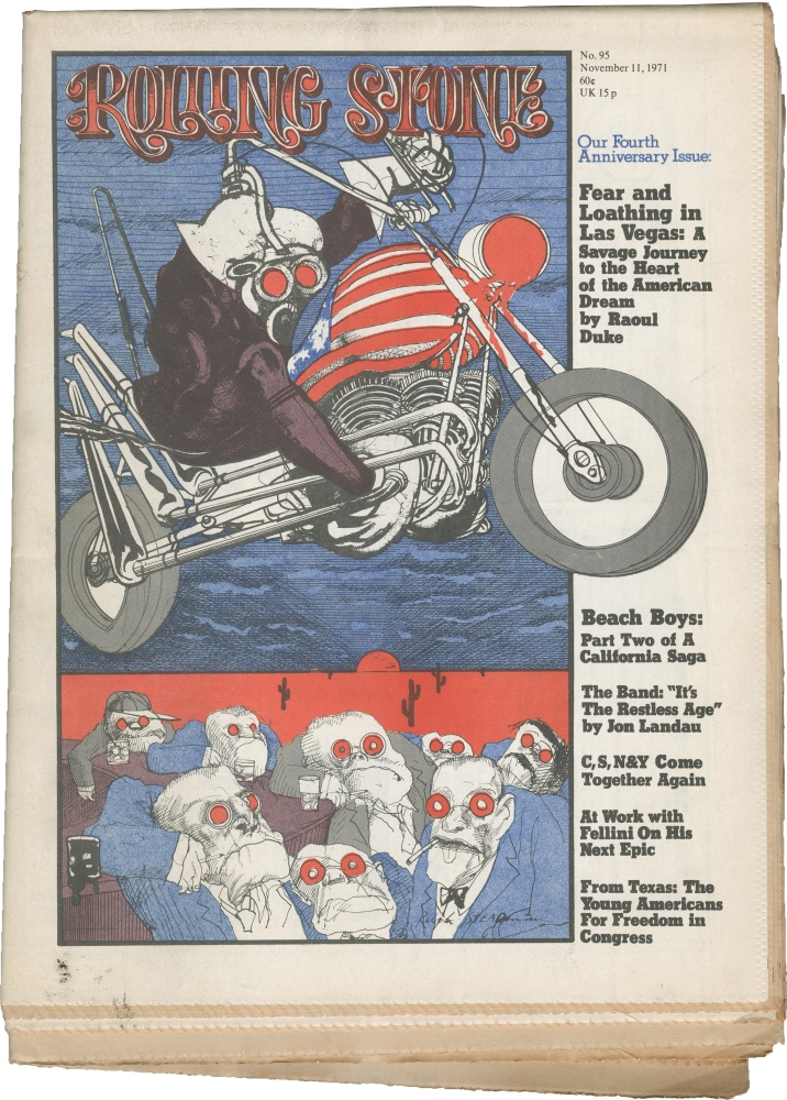 Rolling Stone magazine, Issues No. 95 and 96. Rolling Stone magazine, Jann Wenner, Hunter S. Thompson, Ralph Steadman, contributor.