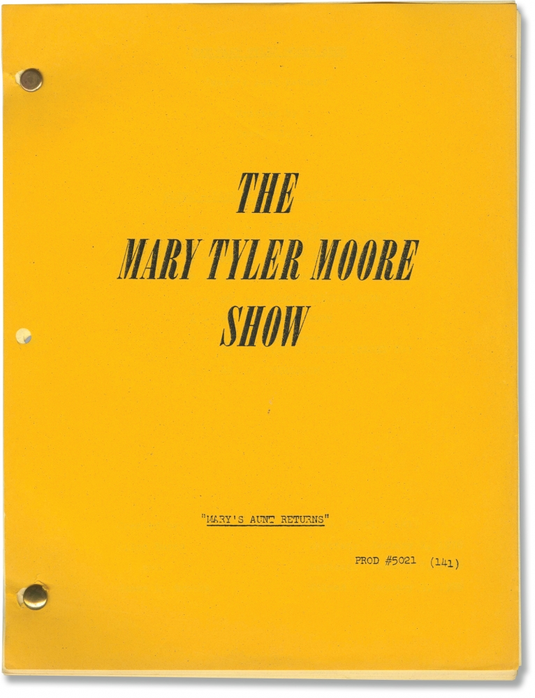 The Mary Tyler Moore Show: Mary's Aunt Returns. James L. Brooks, Allan Burns, David Lloyd, Edward Asner Mary Tyler Moore, Betty White, Cloris Leachman, Valerie Harper, Ted Knight, Gavin MacLeod, creators, screenwriter, starring.