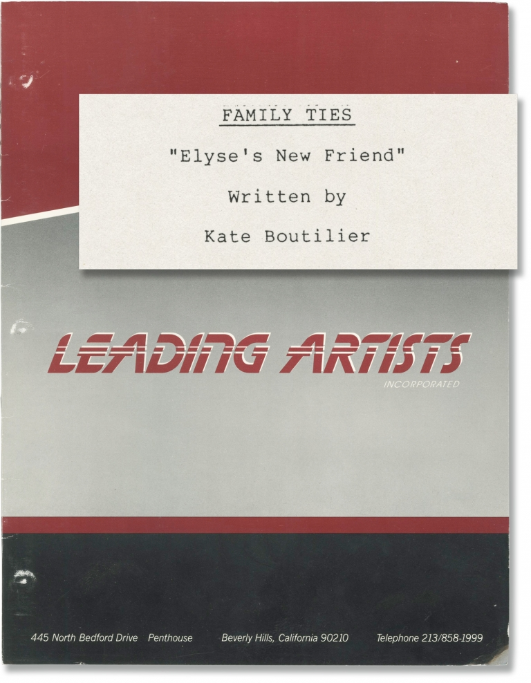 Family Ties: My Mother, My Friend [Elyse's New Friend]. Gary David Goldberg, Kate Boutilier, Michael Gross Meredith Baxter, Justine Bateman, Michael J. Fox, creator, screenwriter, starring.